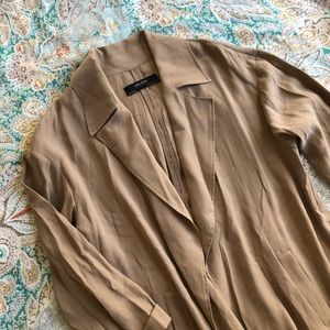 Zara Basics Open Trench Coat